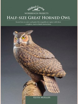 Half-size Great Horned Owl